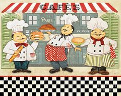Plout Digital Art - French Chefs-jp2280 by Jean Plout