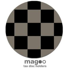 Magoo 332 Velvet Silver Chequered Magnetic Tax Disc Holder for Mini Cooper: Amazon.co.uk: Car & Motorbike