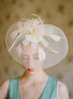 stunning sheer headpiece from Ruche