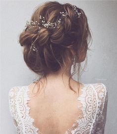 """1,271 Likes, 23 Comments - Modern Wedding Australia (@modernweddingmagazine) on Instagram: """"A whimsical braided up-do with Baby's Breath woven in. Hair styled by @ulyana.aster #weddinghair…"""""""
