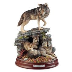 Sculpture: Autumn Tranquility Wolf Pack Family Sculpture by The Bradford Exchange Bradford Exchange http://www.amazon.com/dp/B00J9V6TF6/ref=cm_sw_r_pi_dp_2jWlwb0SKSAQF