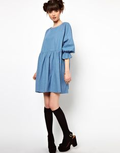 The WhitePepper Denim Smock Dress