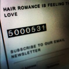 """WOW! Thanks to everyone who has stopped by Hair Romance!! Just passed 5 million hits! xxx"""