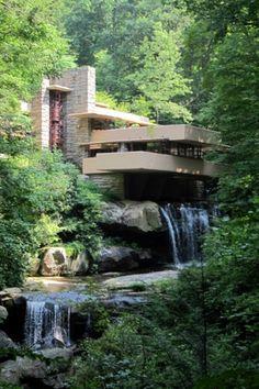 'The Fallingwater House' Frank Loyd Wright