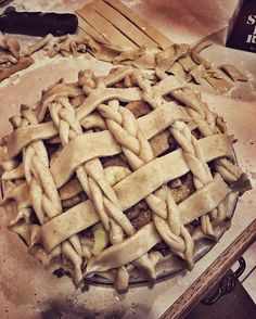 Tried a braid with the lattice tonight cause why not? Now time to bake it! #Apple #pie #applepie #orchard #bake #instabake #baking #diy #homemade #homemadebaking #handmade #whiskey #stayathomedad #melicksfarm