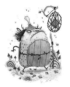 "Teemu Juhani on Instagram: ""Inktober Day 4: Forest Watch 👹 . . #inktober #inktober2019 #inktoberday4 #illustration #inkdrawing #monster #creature #fantasyart…"" Halloween Illustration, Sketchbook Ideas, Halloween Themes, Inktober, Authors, Illustrators, Fantasy Art, Whimsical, Challenge"