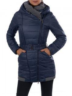 Dámska zimná bunda - 7879 - tmavo modrá - M