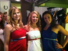 Togas, curls, and pearls. TSM.