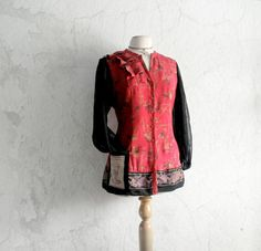 Bohemian Blouse Eco Friendly Clothing by BrokenGhostClothing,