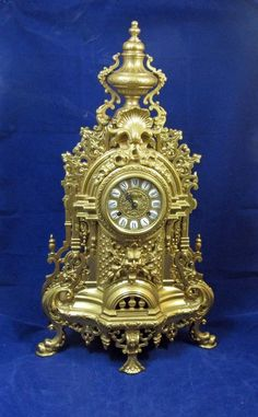 FOR SALE: Large Vintage Ornate Baroque Style Grotesque Brass IMPERIAL Chiming Mantle Clock #Baroque #Imperial