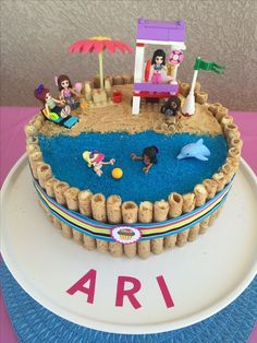 Creative Image of Lego Birthday Cake Creative Image of Lego Birthday Cake Lego Birthda Pool Birthday Cakes, Batman Birthday Cakes, 9th Birthday Cake, Pool Party Cakes, Pool Cake, Themed Birthday Cakes, Lego Friends Cake, Lego Friends Birthday, Lego Friends Party