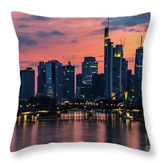 Frankfurt Germany Sunset Palette Throw Pillow for Sale by Norma Brandsberg Germany Photography, Photography Photos, Sunset Palette, Colorful Clouds, Frankfurt Germany, Pillow Sale, Fantastic Art, Beautiful Artwork, How To Be Outgoing