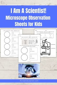 Use this printable to document what you and your children see under the microscope. #homeschool #homeschooling #microscope #science Science Experiments Kids, Science Lessons, Printable Worksheets, Printables, Rube Goldberg, Alternative Education, Planning And Organizing, Recording Sheets, Unit Studies