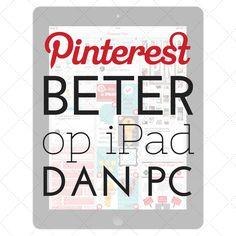 Pinterest beter op iPad dan PC