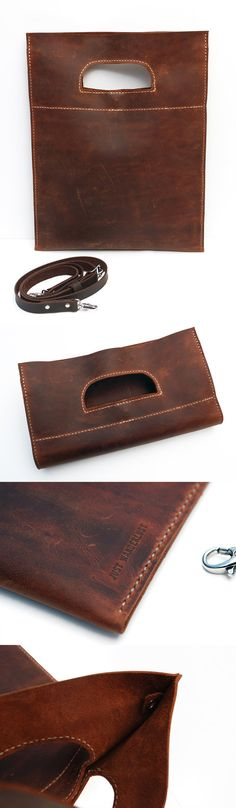 Waxed leather bag Multi pursose bag by JustWanderlustShop