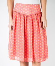 Another great find on #zulily! Coral Zut Alors Skirt by DownEast Basics #zulilyfinds