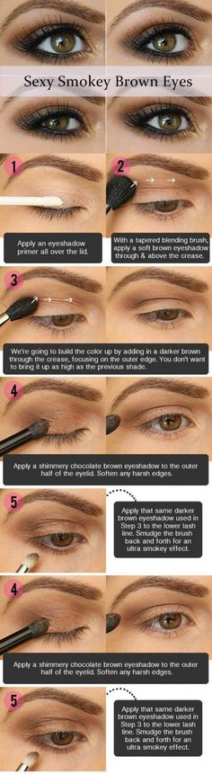 Sexy Smoky Eye Makeup Tutorial | Gorgeous & Easy Eye Makeup Tutorials For Brown Eyes | Eye Shadow Tutorials at http://makeuptutorials.com/gorgeous-easy-eye-makeup-tutorials-brown-eyes-eye-shadow-tutorials/