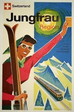 Vintage Ski Posters | ... posters, vintage, vintage posters, skiing, sports, Switzerland