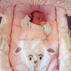 """How Adorable Is Little Emilia-Jade?!! Baby Emilia-Jade looks like she belongs in her cotton candy nap mat! Mum Amy says """"Emilia-Jade loves it! X"""". She certainly looks happy in it! :-)"""
