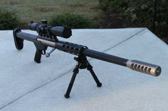 Anzio Ironworks Idaho Lightweight A single shot bolt-action rifle in .50 BMG. It gets the name Idaho Lightweight because it weighs just 14 lbs. Idaho has a weight limit restriction on hunting rifles that weigh over 15. Anzio Ironworks is more famously know for their massive semi-auto 20mm rifles.