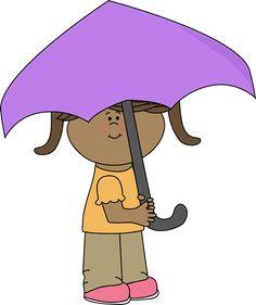 Girl with an umbrella.