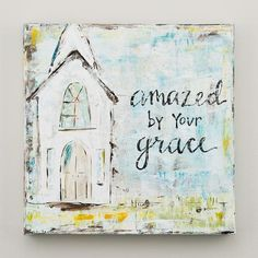 Take a look at this Amazed By Your Grace Wrapped Canvas today! Paint Party, Painting & Drawing, Scrape Painting, Painting Tricks, Sign Painting, Knife Painting, Watercolor Paintings, Watercolors, Watercolor Projects