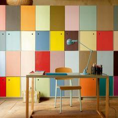 Multicolore, multi-rangements,pratique fonctionnel et funky! /Un bureau de toutes les couleurs