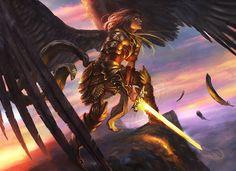 Serra Angel by Grosnez on DeviantArt Fantasy Art Angels, Dark Fantasy Art, Fantasy Artwork, Character Portraits, Character Art, Character Design, Angel Drawing, Angel Warrior, Ange Demon