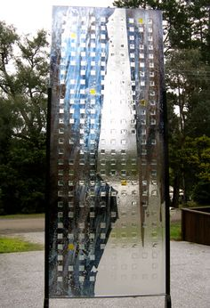 """Exhibition Piece : """"Squares'. Textured Glass, Lustre and Silver stain , Mark Howard Glassworks , Melbourne."""
