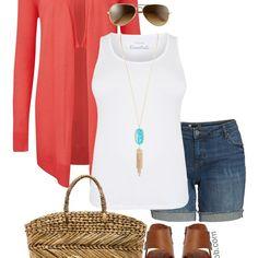Plus Size Summer Denim Shorts Outfit - Plus Size Casual Summer Outfit Idea - Plus Size Fashion for Women - alexawebb.com #alexawebb #plussize