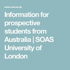 Information for prospective students from Australia | SOAS University of London