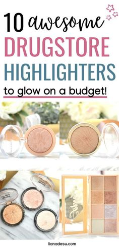 drugstore makeup The best drugstore highlighters to glow! Get the perfect glow on a budget with these 10 affordable drugstore highlighters - from a subtle glow to a blinding glow. These drugstore highlighters are must haves in your makeup collection! Drugstore Makeup Brands, Drugstore Highlighter, Best Makeup Products, Highlighters, Hair Products, Make Up Tutorials, Makeup Revolution Soph, Best High End Makeup, Desu Desu