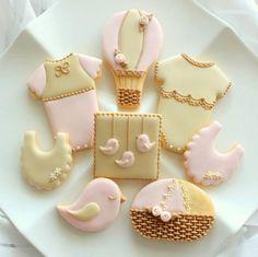 Bella Sucre - baby bird shower cookies