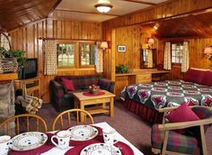 Outdated Decor But Great One Room E Tiny Cabins