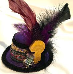 Tipper Decadent  Tiny Hat with Bismuth by NatsTinyHats on Etsy