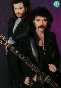 "Promo shot of Glenn Hughes and Tony Iommi (Black Sabbath) in support of ""Seventh Star"" in 1986."