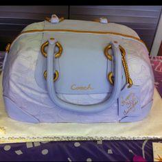 Coach purse cake! @Alyssa Roane