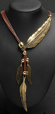 2016 New Arrival Brand Big Luxury Statement Pendant Necklace Vintage Maxi Women Accessories Rope Chain Feather Item specifics Fine or Fashion: Fashion Item Type: Necklaces Pendant Size: Adjustable Sty
