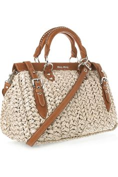 Miu Miu ~  Fun Straw Bag For Spring And Summer ...