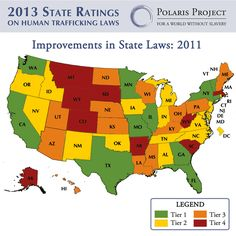 2013 State Ratings on Human Trafficking Laws