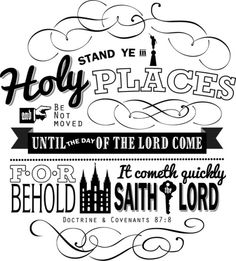 Stand Ye In Holy Places #YoungWomen