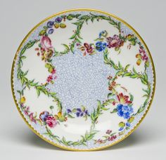 Saucer from a Tea Service Gobelet Hebert,   Made by the Sèvres porcelain factory, c. 1759
