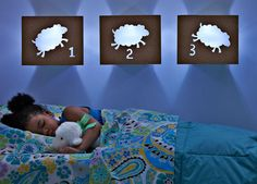 DIY Easy-to-Make Night-Lights ~~~  Add storybook charm to your child's room with these simple night-lights. They feature handy LED lights that shut off automatically -- so there's no wiring necessary! - I want to make these for Joseph's room in the cove where his new big boy bed is!!!