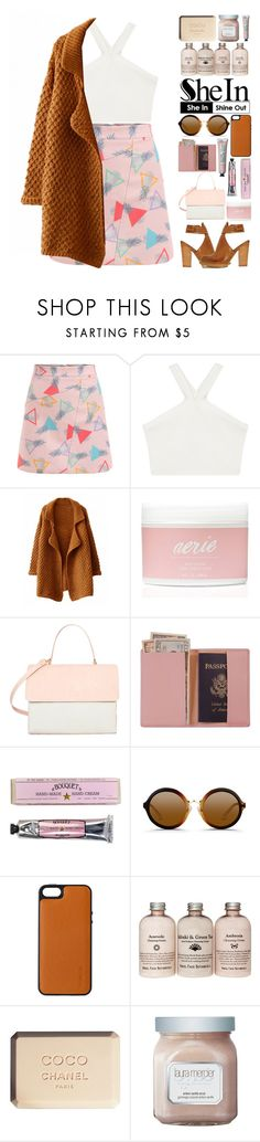 """""""you're driving me wild"""" by iradicate ❤ liked on Polyvore featuring BCBGMAXAZRIA, Aerie, Shoe Cult, Eddie, Royce Leather, Soap & Paper Factory, 3.1 Phillip Lim, Knomo, Chanel and Laura Mercier"""