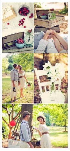 Beautiful engagement photoshoot idea and setup.