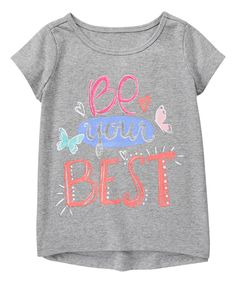 2f89e0532e8 Take a look at this Gymboree Cozy Heather  Be Your Best  Active Tee -