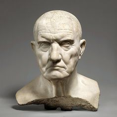 Marble bust of a man, Julio-Claudian period, mid-1st century A.D., Roman. The Metropolitan Museum of Art, NY.