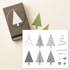 Image result for stampin-up tree cards