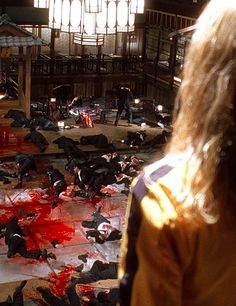 "Kill Bill - probably the greatest celebration of gore and violence and death in the cinema - the only movie that came close and it was also a classic was Sam Peckinpah's ""The Wild Bunch. If slaughter can be beautiful, these films achieved that level of art."