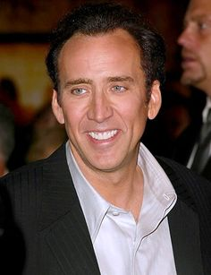 Nicolas Cage- he may be old but he is still looking good!
